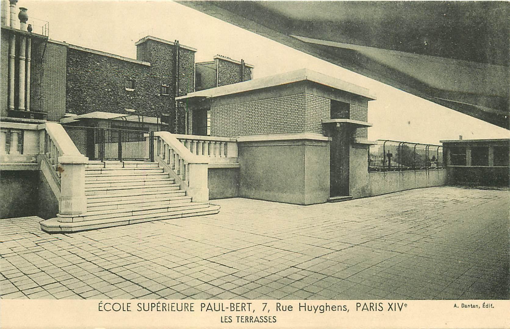 PARIS 14. Ecole Supérieure Paul-Bert 7 rue Huyghens. Les Terrasses