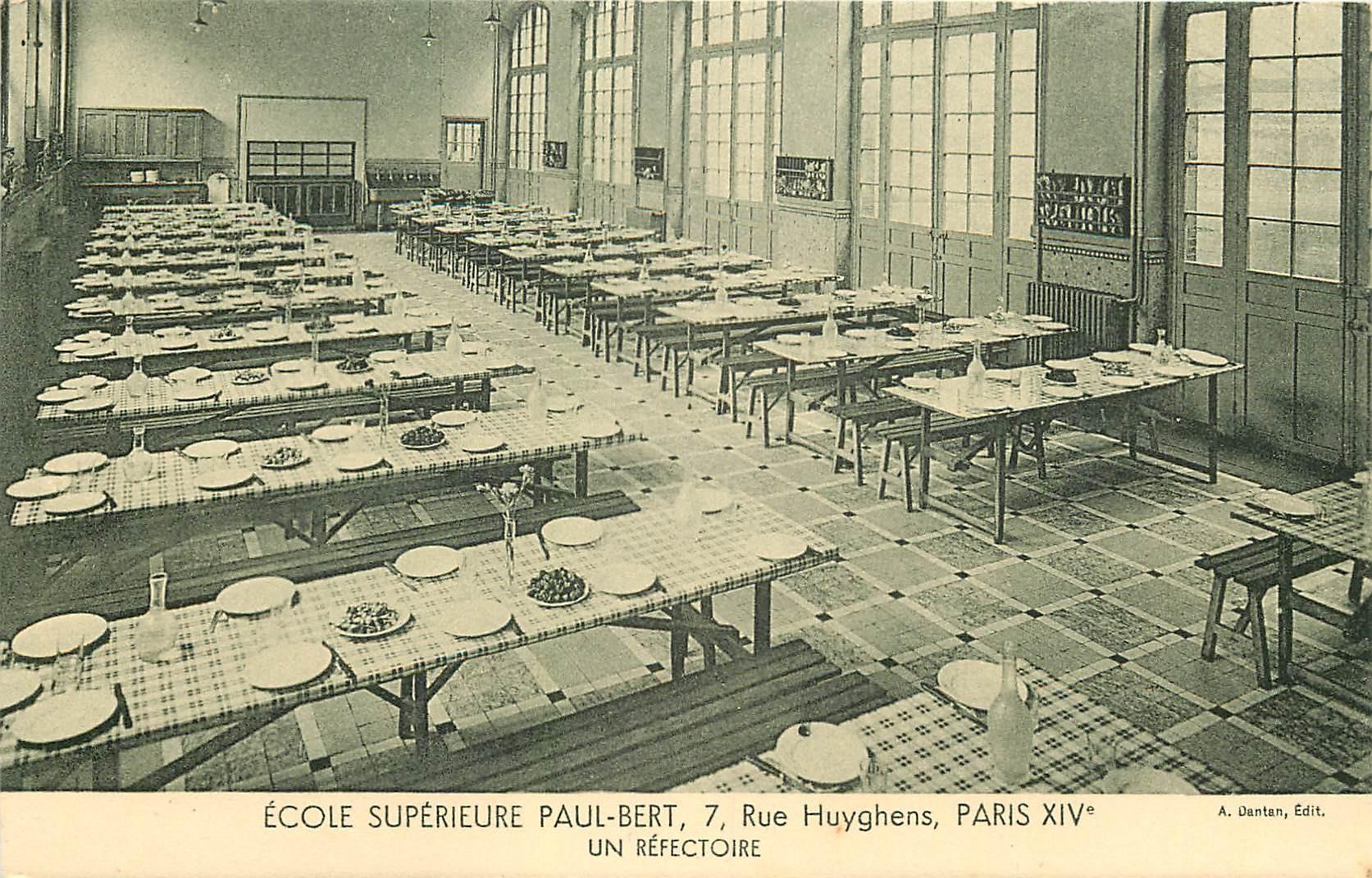 PARIS 14. Ecole Supérieure Paul-Bert 7 rue Huyghens. Un Réfectoire