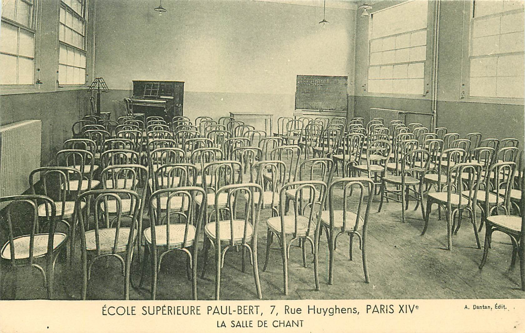 PARIS 14. Ecole Supérieure Paul-Bert 7 rue Huyghens. La Salle de Chant
