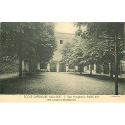 PARIS 14. Ecole Supérieure Paul-Bert 7 rue Huyghens. Cour de Récréation