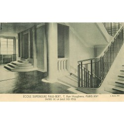 PARIS 14. Ecole Supérieure Paul-Bert 7 rue Huyghens. Entrée Salle des Fêtes