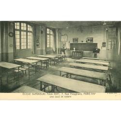 PARIS 14. Ecole Supérieure Paul-Bert 7 rue Huyghens. Salle de dessin