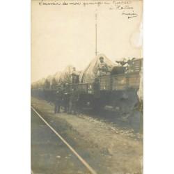 BOSNIE HERZEGOVINE. Militaires et canon sur train lors du passage du Général Haller 1919