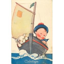 3 x cpa BEATRICE MALLET. Cabotage, l'Heure du Bain et Joyeuses Vacances
