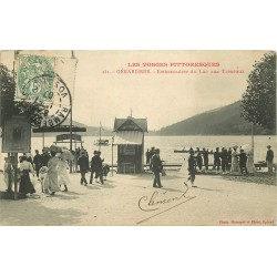 88 GERARDMER. Embarcadère du Lac aux Trexeaux 1907