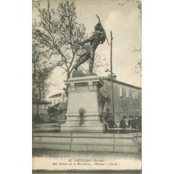 34 PAULHAN. Monument Fontaine aux Soldats de la Révolution animation 1919