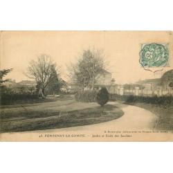 85 FONTENAY-LE-COMTE. Jardin et Ecole des Jacobins 1907