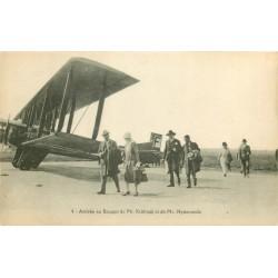 93 LE BOURGET. Arrivée de Mr Krishnaji et Nytiananda vers 1924
