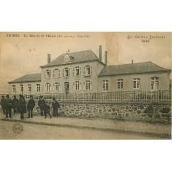 15 RUINES. Mairie et Ecole 1922