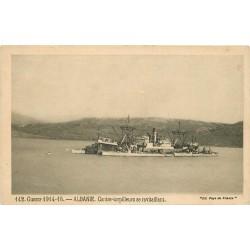 Guerre 1914-18. ALBANIE Contre Torpilleurs se ravitaillant