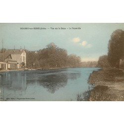 10 NOGENT-SUR-SEINE. La Passerelle vue sur la Seine 1937