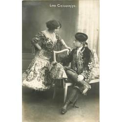 """Photo cpa Danseurs et chanteurs de Flamenco Gitan """" Los Chicharito """""""
