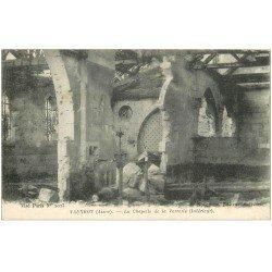carte postale ancienne 02 VAUXROT. Chapelle de la Verrerie 1917
