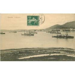 20 AJACCIO. Manoeuvres de l'Escadre 1907