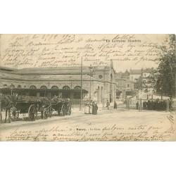 54 NANCY. Nombreux fiacres taxis devant la Gare 1903
