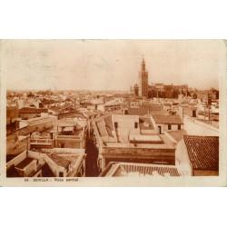 Espagne 2 x cpa SEVILLA. Vista parcial et Plaza Da Elvira 1930