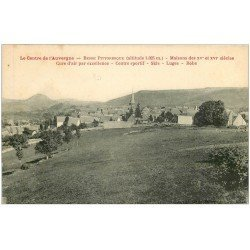carte postale ancienne 63 BESSE. Le Village