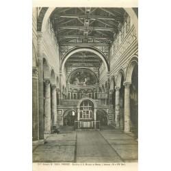 3 x cpa FIRENZE. Basilica Miniato al Monte, Vergine par Correggio et Testa della Pallade par Botticelli