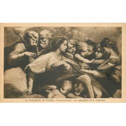 3 x cpa PARMA. Galleria Parmigianino sposalizio, Correggio Madonna et deposizione