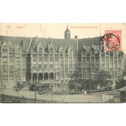 2 x cpa LIEGE. Palais du Gouverneur et de Justice 1909