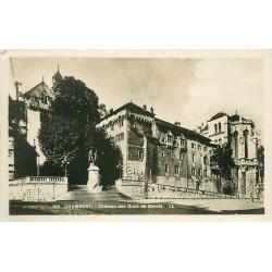 2 x cpa 73 CHAMBERY. Château Ducs de Savoie et rideau Théâtre 1931