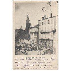 carte postale ancienne 63 BILLOM. Le Beffroi 1910 (défaut)