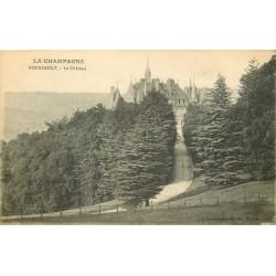 2 x cpa 51 BOURSAULT. Le Château 1917