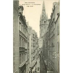 2 cpa 35 SAINT-MALO. Boulangerie Grande Rue et Tombeau Chateaubriand