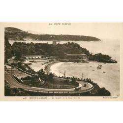 3 cpa MONTE-CARLO. Beach Cap Martin, Casino et Jardin Fleuri
