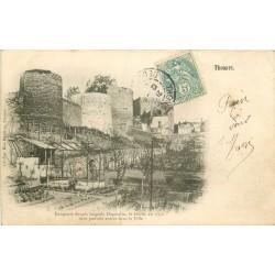 Deux cpa 79 THOUARS. Remparts et Château 1906