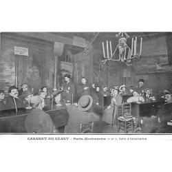 5 cpa PARIS MONTMARTRE. Cabaret Néant salle Intoxication Caveau trépassés Spectres Lampadaire funéraire