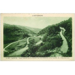 carte postale ancienne 63 CHAMBON. Les Lacets sur la Route Vallée de Chaudefour