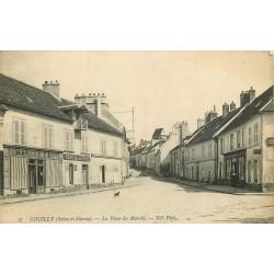 77 COUILLY. Boulangerie Roche et Café de la Paix Place du Marché et Canal