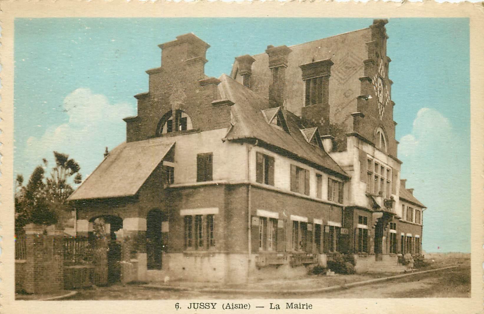 02 JUSSY. La Mairie 1952