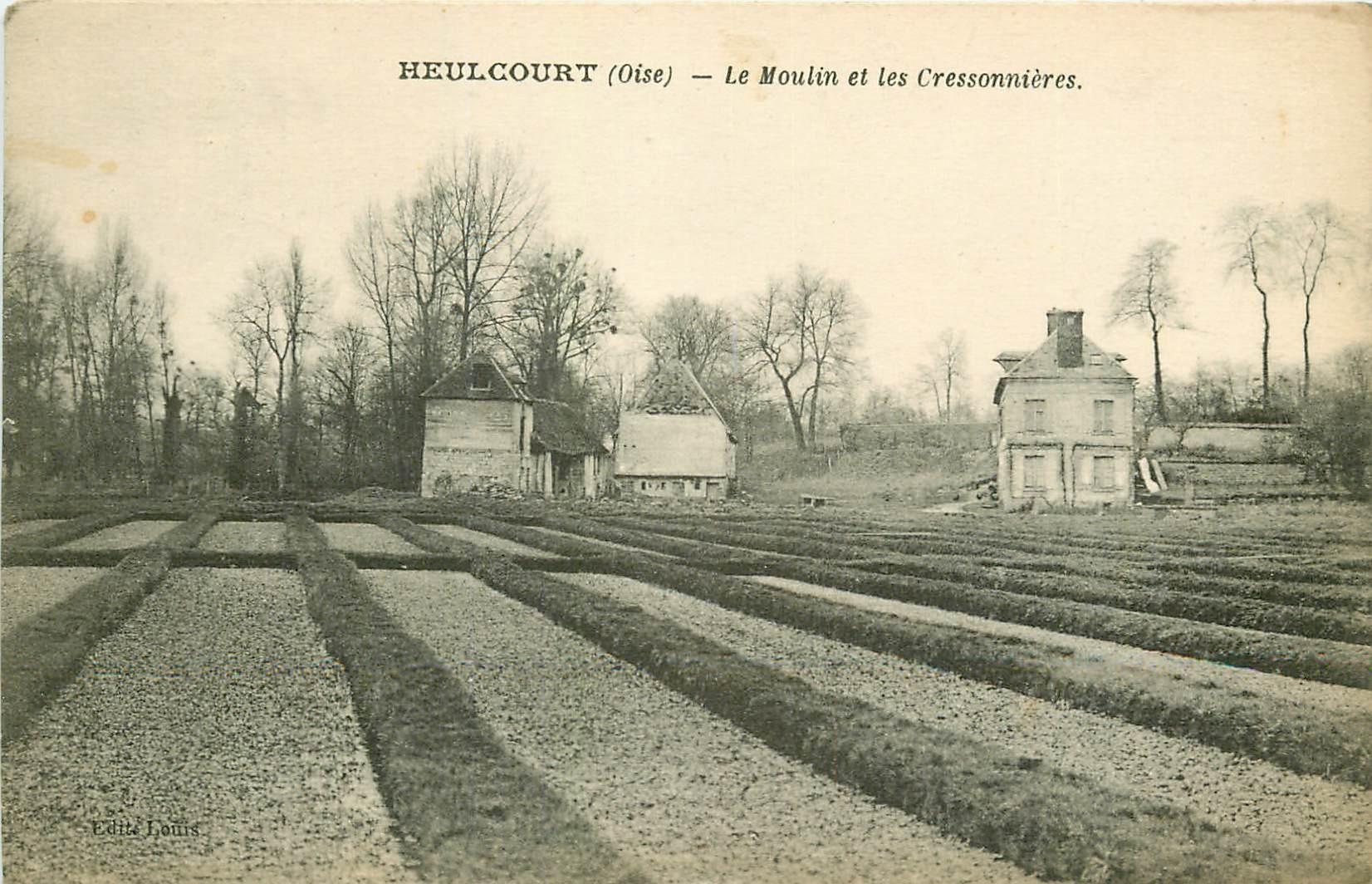 60 HEULCOURT. Le Moulin et les Cressonnières 1921
