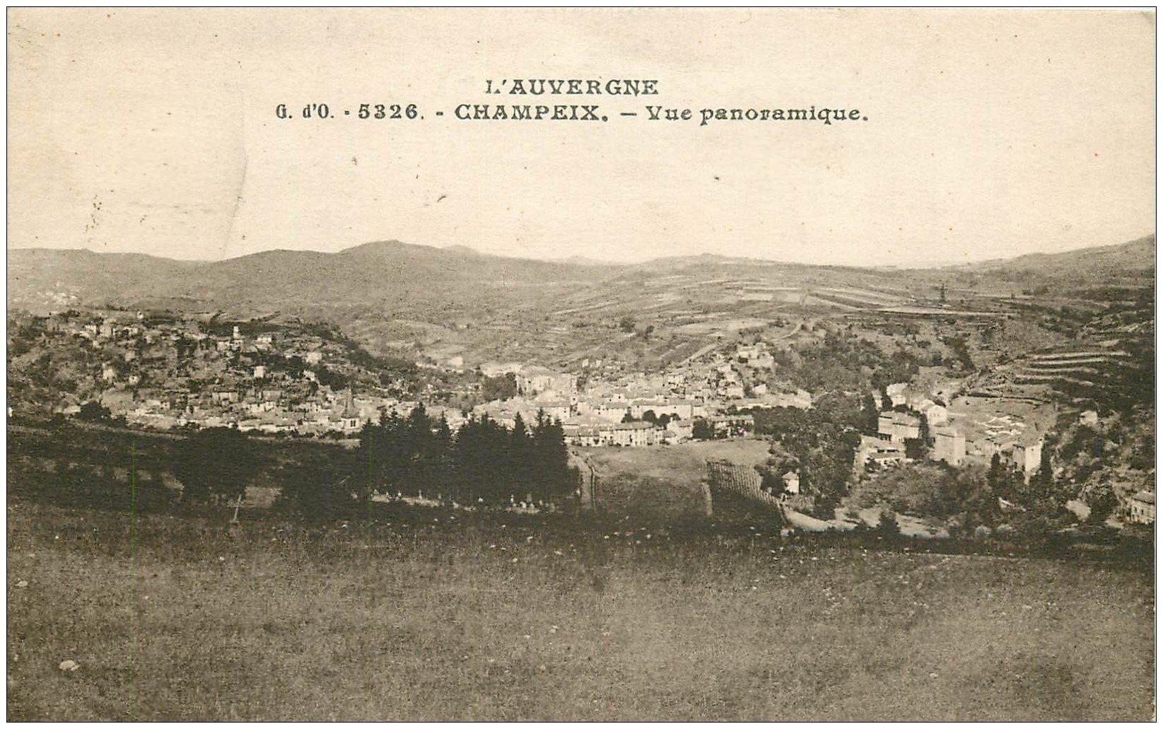 carte postale ancienne 63 CHAMPEIX 1942