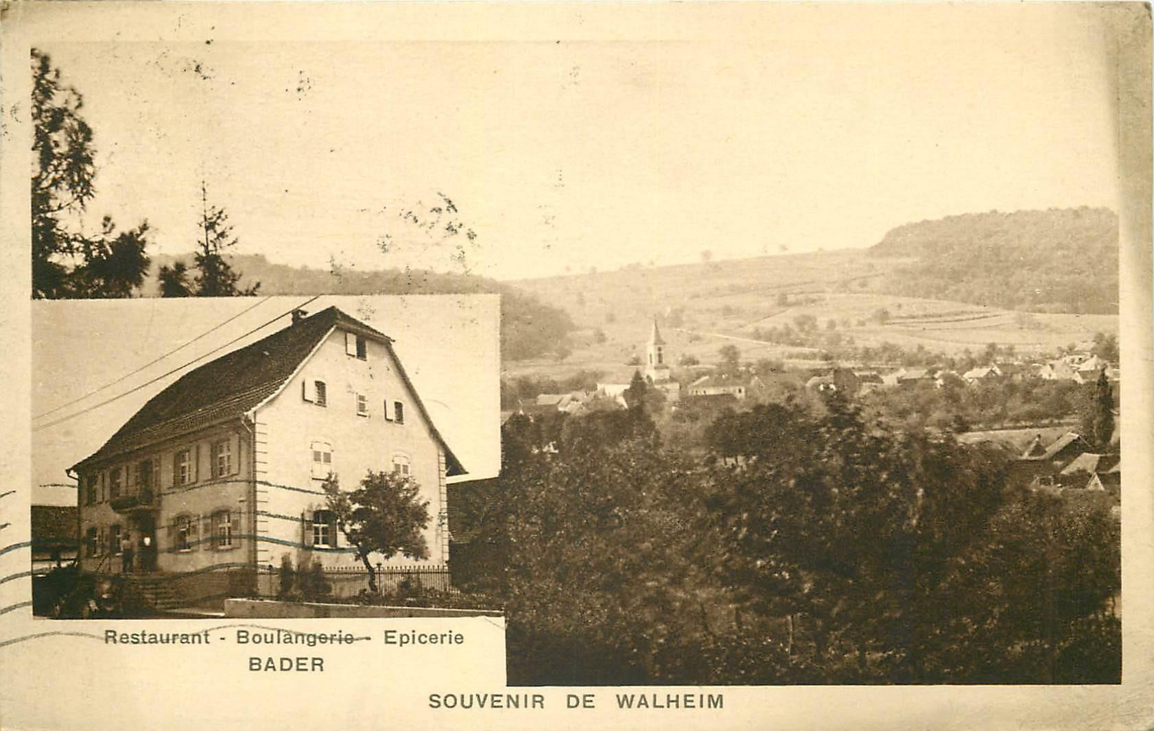 WALHEIM. Restaurant Boulangerie Epicerie Bader 1936