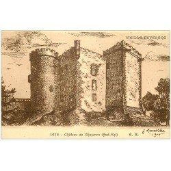 carte postale ancienne 63 CHATEAU DE CHAZERON d'après Larroche en 1907