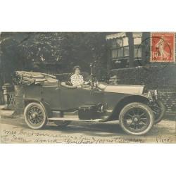 PARIS 15. Superbe voiture décapotable devant le 105 rue Vaugirard 1915