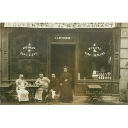 PARIS 08. Bouchers assis Buvette Restaurant Cantournet 9 avenue de Friedland 1908