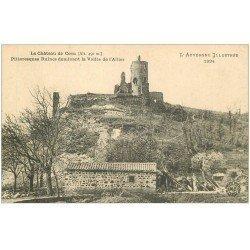 carte postale ancienne 63 CHATEAU DE COCU Vallée de l'Allier