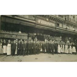PARIS 02. Volailles Boucherie Félix Potin boulevard Sébastopol 1912