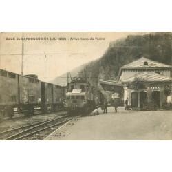 BARDONECCHIA. Arrivo treno da Torino 1924