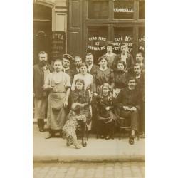 PARIS 11. Café Hôtel Chambelle 73 rue Sedaine vers 1910