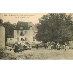 Trois cpa 18 CHATEAUNEUF-SUR-CHER. Ferme de la Maison Neuve, la Maison Neuve 1938 et Moulin Bateau avec le Château