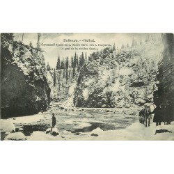 RUSSIE RUSSIA SIBERIA SIBERIE BAÏKAL. Le gue de la riviere Onot 1908