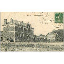 carte postale ancienne 02 VERVINS. Ecole Communale 1923