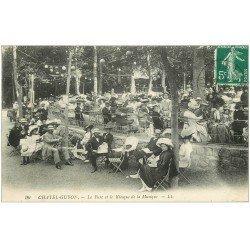 carte postale ancienne 63 CHATEL-GUYON. Parc et Kiosque de Musique 1911