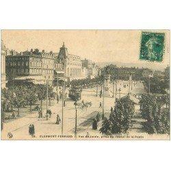 63 CLERMONT-FERRAND Lot 10 Cpa. Hôtel de la Poste, Square Blaise Pascal, Place Jaude, Cathédrale Place Victoires