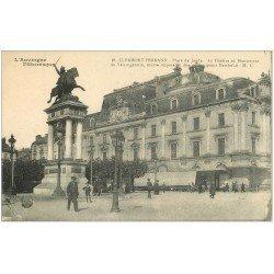 carte postale ancienne 63 CLERMONT-FERRAND Lot 10 Cpa. Théâtre Vercingétorix Place Jaude, Portes Eglises et Cathédrales...